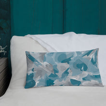 Load image into Gallery viewer, Abstract Watercolor Blue and Gray - Premium Throw Pillow