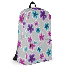 Load image into Gallery viewer, Multi Color Flowers Backpack - Purple, Pink, Blue