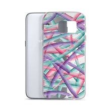 Load image into Gallery viewer, Colorful Brush Strokes Pattern Samsung Case - Purple Pink Teal