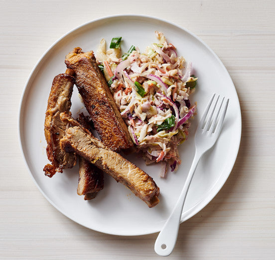 St. Louis Style Ribs with Jalapeno Slaw (GF)