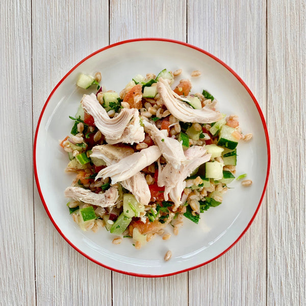 Farro Tabbouleh with Chicken