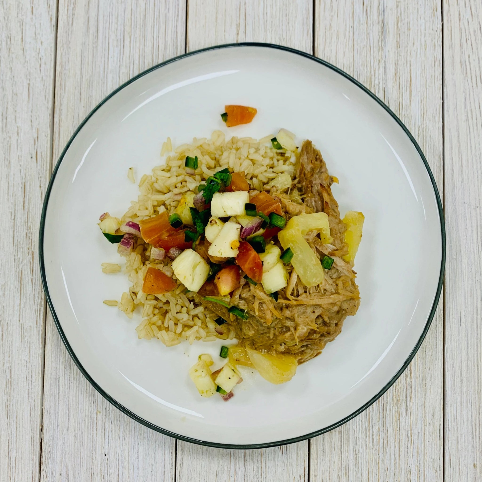 Pork & Pineapple Salsa Rice Bowl (GF)