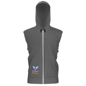 Pro-Series Flukey Men's Hooded Vest Fledge Gull Grey - flukeylife, flukey
