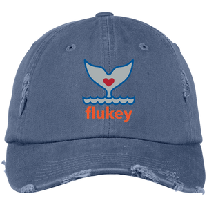 Flukey Distressed Dad Cap - flukeylife, flukey