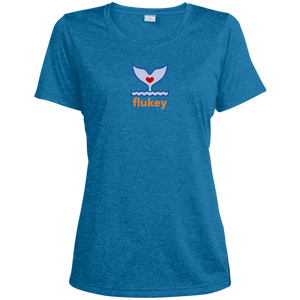 Ladies' Flukey Heather Dri-Fit Moisture-Wicking T-Shirt - flukeylife, flukey