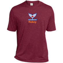 Men's Flukey Heather Dri-Fit Moisture-Wicking T-Shirt - flukeylife, flukey