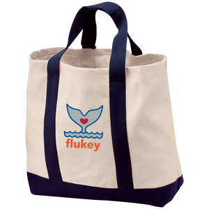 Flukey 2-Tone Shopping/Beaching Tote - flukeylife, flukey