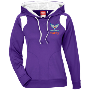 Ladies' Flukey Team 365 Ladies' Colorblock Poly Hoodie - flukeylife, flukey
