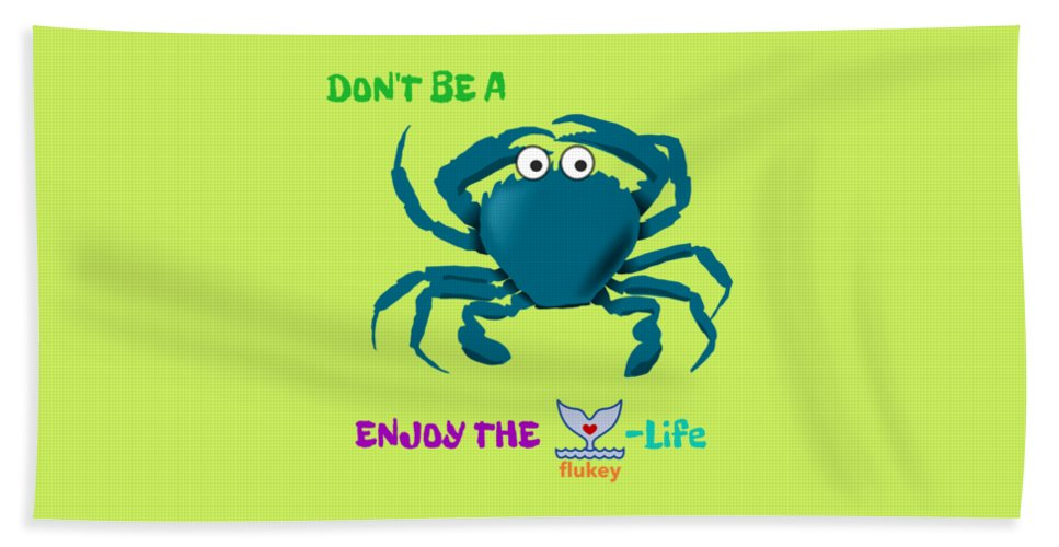 Flukey Don't Be A CRAB Beach Towel in Margarita Lime - flukeylife, flukey