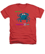 Men's Flukey Don't Be A CRAB Heathered T-Shirt - flukeylife, flukey