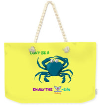 Flukey Don't Be A CRAB Weekender Tote Bag in Optical Banana - flukeylife, flukey