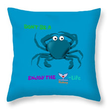 Flukey Don't Be A CRAB Throw Pillows In Clam Smurf (6 sizes) - flukeylife, flukey