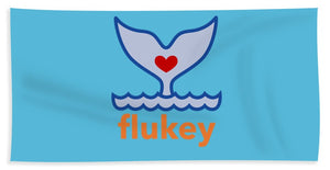 Flukey Beach Towel in Jet Stream Aqua - flukeylife, flukey