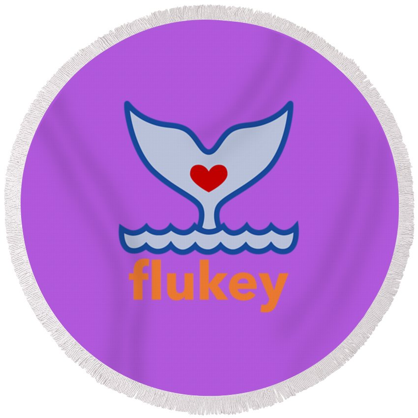 Flukey Round Beach Towel in Sea Grape - flukeylife, flukey