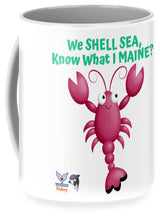 Flukey Maine LOBSTER Shell Mug (2 Sizes) - flukeylife, flukey