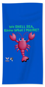 Flukey Maine LOBSTER Beach Towel/Sheet - flukeylife, flukey