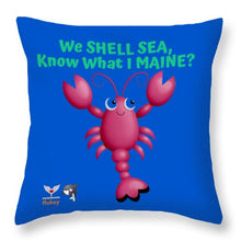 Flukey Maine LOBSTER Throw Pillows - flukeylife, flukey