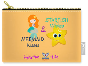 Flukey Mermaid Kisses Carry-All Pouch in Island Mango - flukeylife, flukey