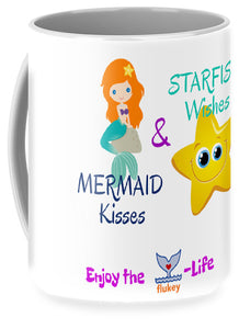 Flukey Mermaid Kisses Mug - flukeylife, flukey