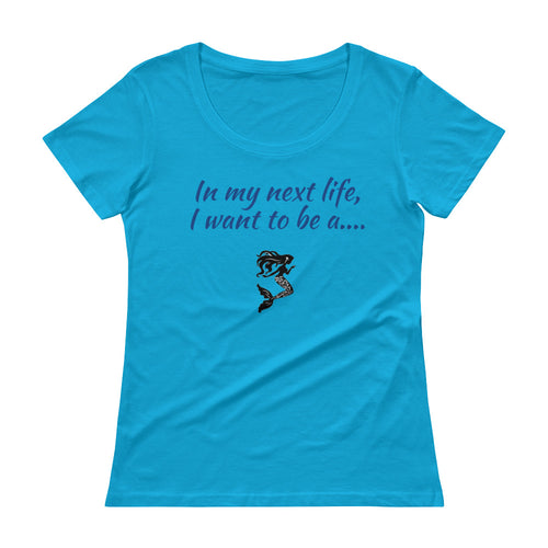 Ladies' Next Life Series MERMAID Scoopneck T-Shirt - flukeylife, flukey