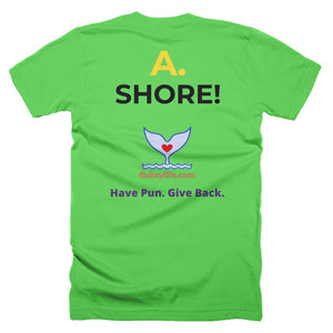 Men's Q&A SHORE Short-Sleeve T-Shirt Made in USA. - flukeylife, flukey