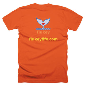 Men's Flukey brand, no square logo, Short-Sleeve T-Shirt Made in USA - flukeylife, flukey