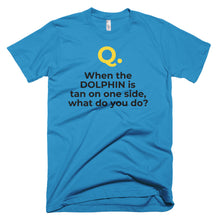 Men's Q&A DOLPHIN FLIPPER Short-Sleeve T-Shirt Made in the USA. - flukeylife, flukey
