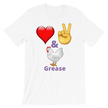 Flukey Love Peace & Chicken Grease Be Happy Tee