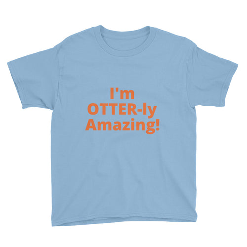 Youth OTTER-ly Amazing Short Sleeve T-Shirt - flukeylife, flukey
