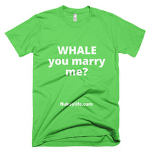 Men's Whale you marry me? Short-Sleeve T-Shirt Made in USA - flukeylife, flukey
