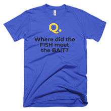 Men's Q&A ON-LINE Short-Sleeve T-Shirt Made in USA. - flukeylife, flukey