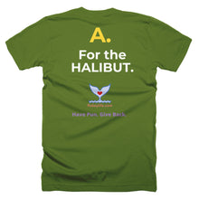 Men's Q&A HALIBUT Short-Sleeve T-Shirt Made in USA. - flukeylife, flukey