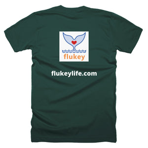 Men's Flukey Branded Short-Sleeve T-Shirt made in USA. - flukeylife, flukey