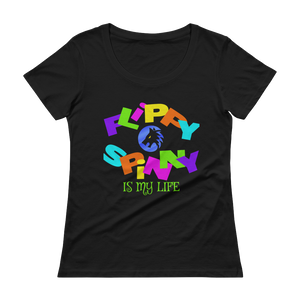 Ladies' FLIPPY SPINNY WOLF T-Shirt