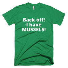 Men's MUSSELS Short-Sleeve T-Shirt Made in USA. - flukeylife, flukey