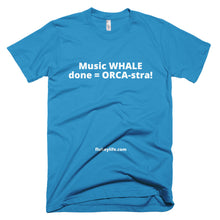 Men's WHALE done ORCA-stra Short-Sleeve T-Shirt made in USA. - flukeylife, flukey