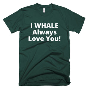 Men's WHALE Love You Short-Sleeve T-Shirt Made in USA. - flukeylife, flukey