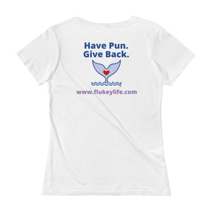 Ladies' FLUKEY Support Scoopneck T-Shirt - flukeylife, flukey