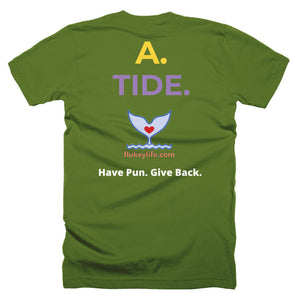 Men's Q&A TIDE Short-Sleeve T-Shirt Made in USA. - flukeylife, flukey