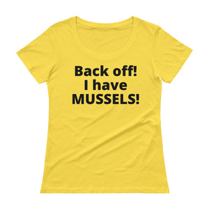 Ladies' MUSSELS Scoopneck T-Shirt - flukeylife, flukey