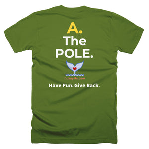 Men's Q&A POLE Qualify Short-Sleeve T-Shirt Made in USA. - flukeylife, flukey