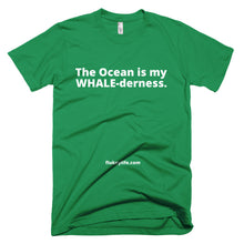 Men's WHALE-derness Short-Sleeve T-Shirt made in USA. - flukeylife, flukey