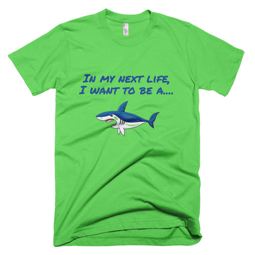 Men's Next Life Series SHARK T-Shirt Made in USA - flukeylife, flukey