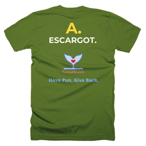 Men's Q&A ESCARGOT Short-Sleeve T-Shirt Made in USA. - flukeylife, flukey