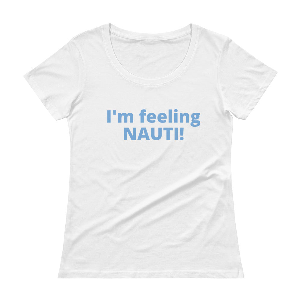 Ladies' NAUTI Scoopneck T-Shirt - flukeylife, flukey