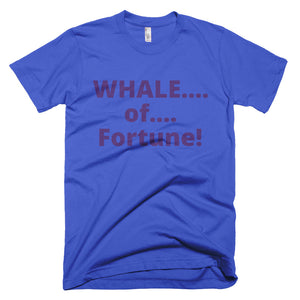 Men's WHALE of Fortune Short-Sleeve T-Shirt Made in USA - flukeylife, flukey