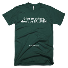 Men's SAILFISH Short-Sleeve T-Shirt made in USA. - flukeylife, flukey