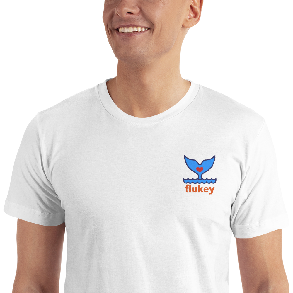 Unisex Adult Flukey Embroidered T-Shirt - flukeylife, flukey