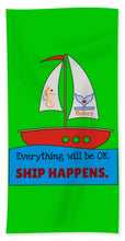 Flukey SHIP Happens. - Beach Towel & Beach Sheet in Wild Island Vine - flukeylife, flukey