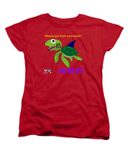 Ladies' Turtle Shark Week T-Shirt (Standard Fit) - flukeylife, flukey